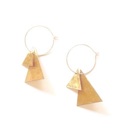 brass wire hoop sankaku