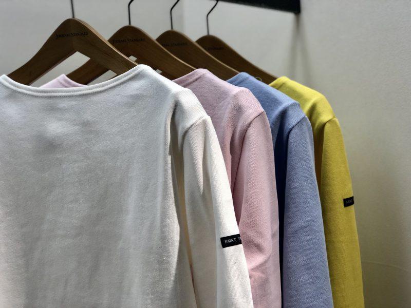 SAINTJAMES ¥10,800 カラー:シロ、ブルー、ピンク、イエロー、ブラック サイズ:F 品番:18070410017810